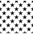seamless pattern of black five-pointed stars on vector image