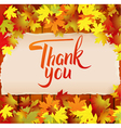 Thank you hand drawn calligraphy background vector image