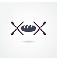 bread icon vector image