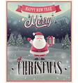 christmas Santa poster vector image