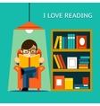 I Love Reading vector image vector image