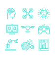 set of icons in trendy linear style vector image vector image