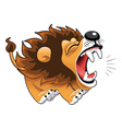Barking lion vector image vector image