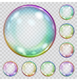 Multicolored transparent soap bubbles vector image vector image