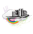 urban grunge city vector image