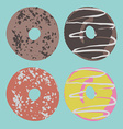 Set of donuts in vector image
