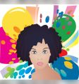 Afro lady vector image