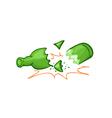 Broken bottle vector image