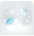 Cristal ice on an indistinct blue background vector image