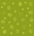 easter holiday green background vector image