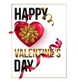 Happy Valentines Day card template with heart and vector image
