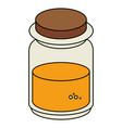 mason jar with ingredient kitchen vector image