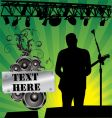 rock singer vector image