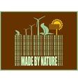 type of renewable energy info graphics background vector image
