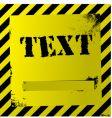 yellow warning quad vector image vector image