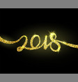 2018 new year creative background design for vector image