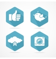 social icons set Flat Design vector image