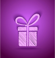 Celebration cute gift box vector image