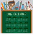 Education Concept 2017 Printable Calendar vector image