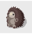Nice childrens toy gray hedgehog vector image