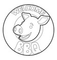 welcome invitation to barbecue icon outline vector image