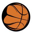 basketball icon cartoon vector image