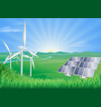 renewable energy vector image