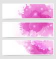 Modern art bright web header collection vector image