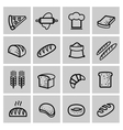 black bread icon set vector image vector image