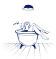 young women in the bath vector image vector image