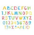 Colorful children ABC for your design vector image