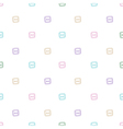 Seamless pattern with buttons vector image