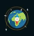 Compass flat design vector image