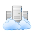 Servers and Clouds vector image vector image