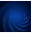 Blue smooth twist lines background vector image vector image
