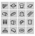 black bread icon set vector image