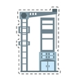 building elevator construction structure cut line vector image