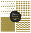 christmas golden patterns set 2 vector image