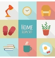 flat home icons vector image