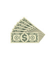 isometric paper money banknotes isolated icon vector image