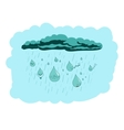 living drops in the sky vector image