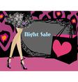 night shopping card vector image