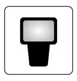 Professional camera flash icon vector image