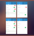 settings flat user interface concept vector image