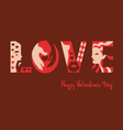 love typography background vector image vector image