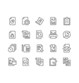 Line Report Icons vector image