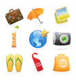 Icons for resort vector image vector image
