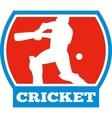 cricket sports batsman batting vector image vector image