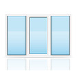 plastic window 02 vector image vector image