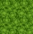clover pattern vintage green vector image